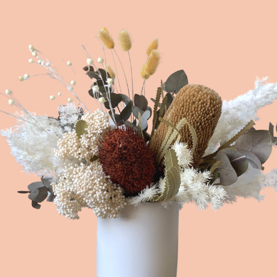 Image of a dried flower arrangement